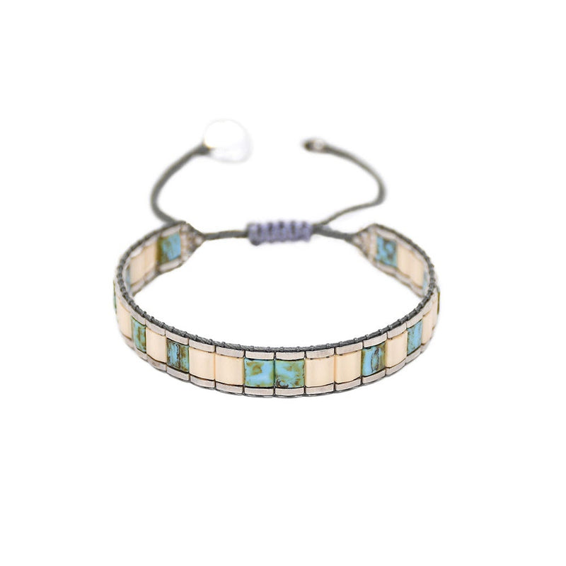 Mishky LUCCA Bracelet - Cream and Teal