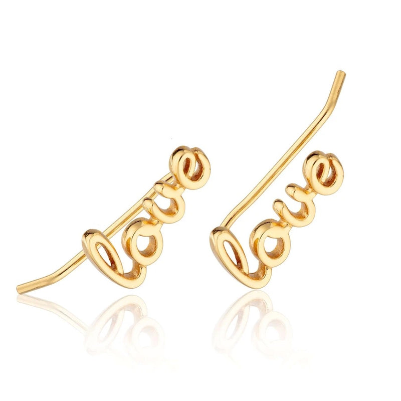 Scream Pretty Love Climber Earring Gold Plated