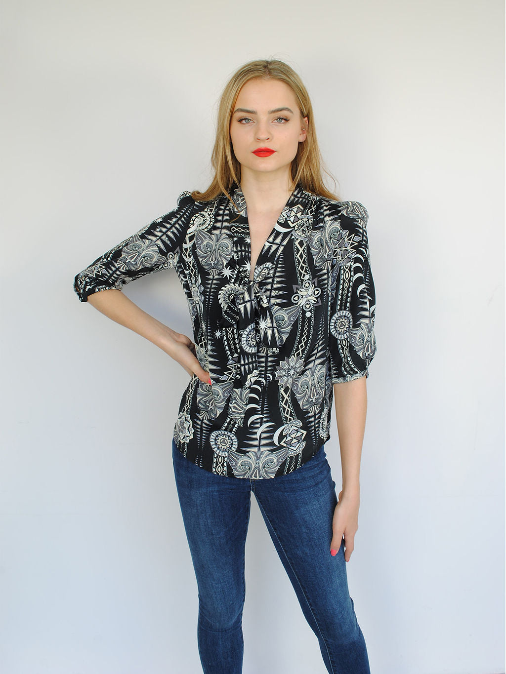 Stardust Tribal Candy Blouse Black Diamond