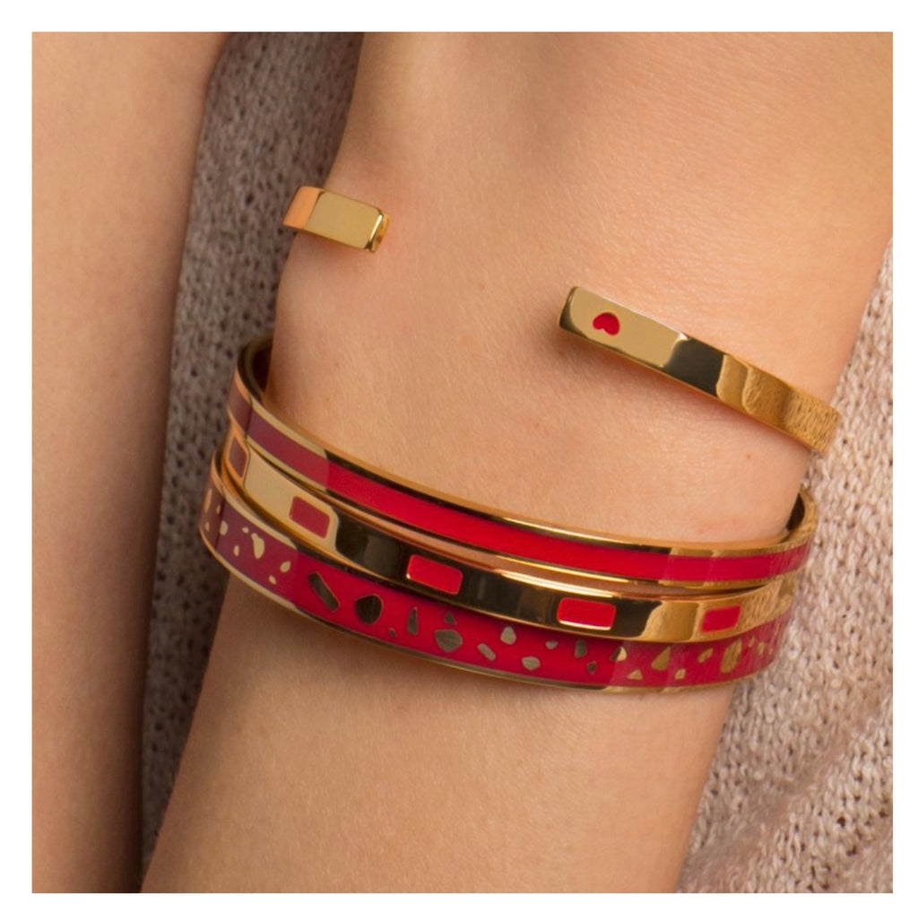 Bangle Up Cuff Bangle - Velvet Red