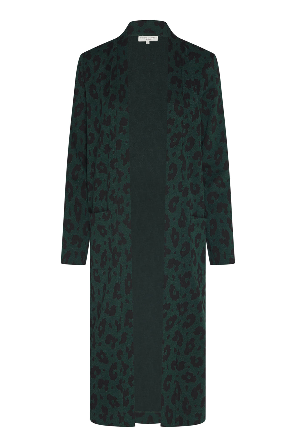 Fabienne Chapot Phene Long Cardigan - Green Leopard