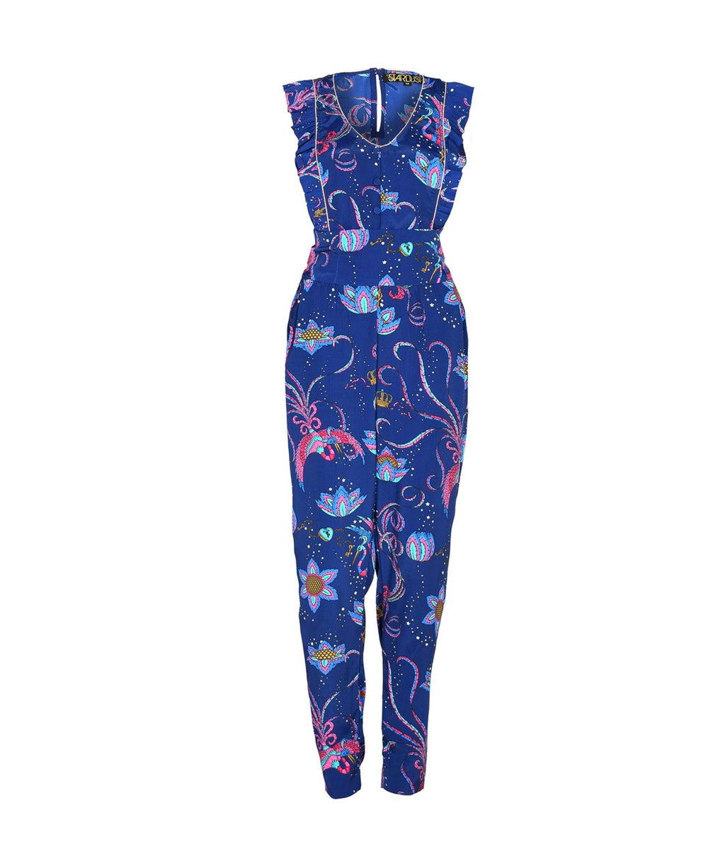 Stardust Disco Bird Jumpsuit - Navy