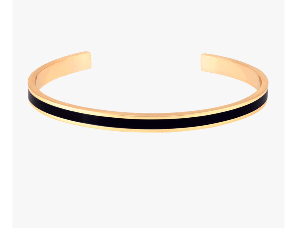 Bangle Up Cuff Bangle - Black