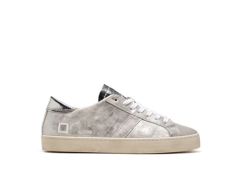 DATE Hill Low Stardust Trainers - Silver