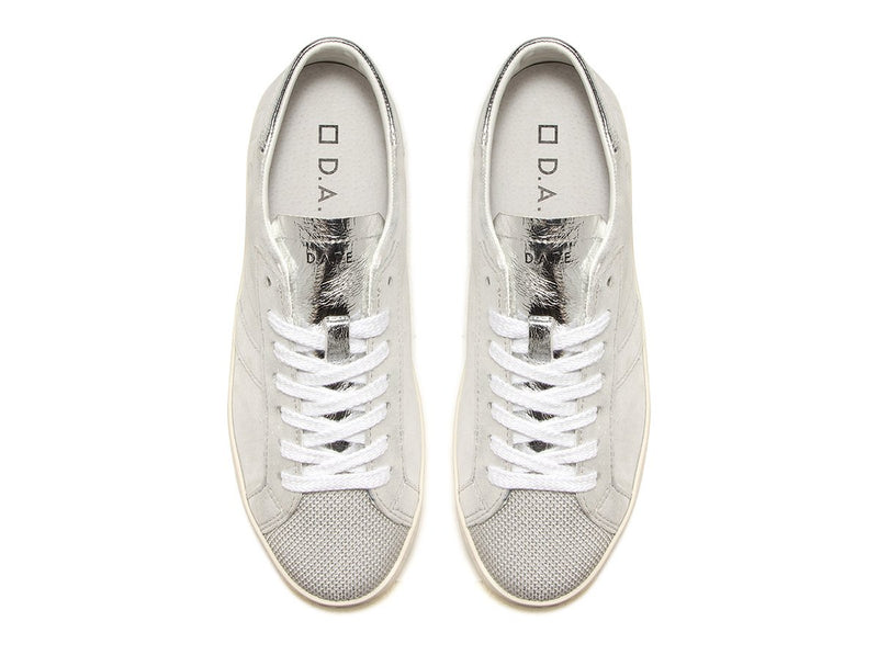 D.A.T.E Hill Low Stardust Trainers - Silver