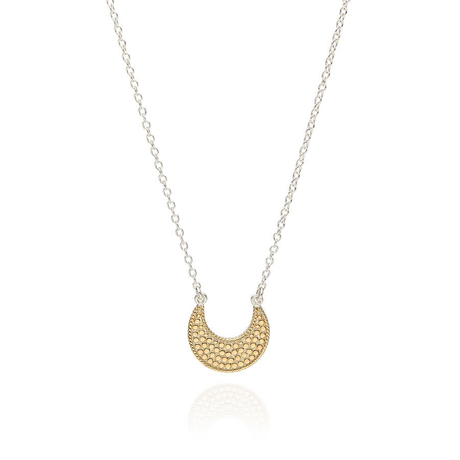 Anna Beck Small Crescent Dotted Necklace - Gold