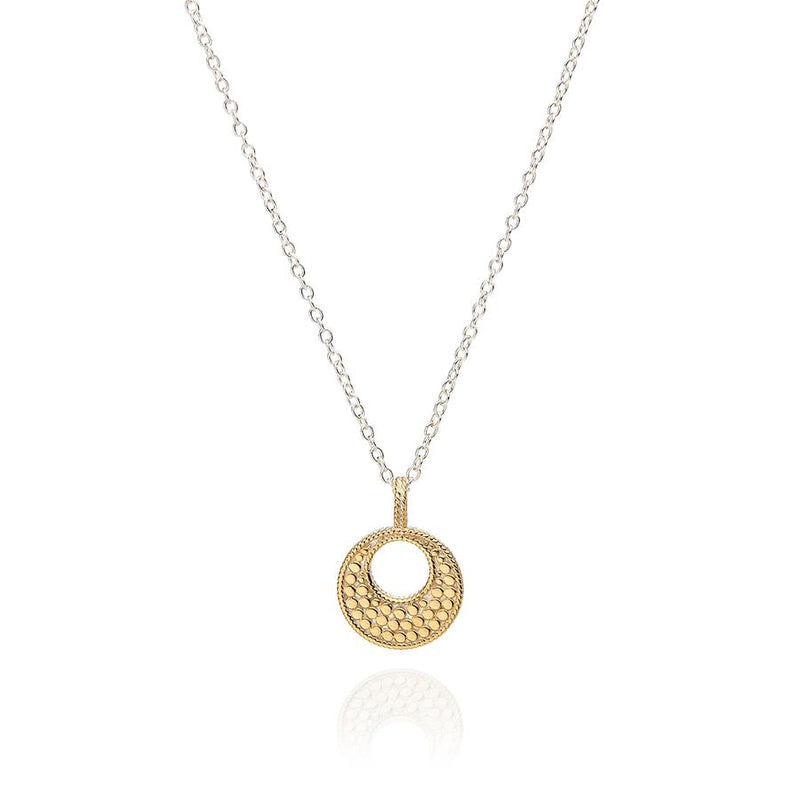 Anna Beck Small Open Disc Dotted Pendant - Gold