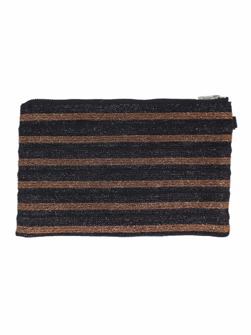 Nooki Lurex Clutch - Rust