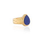 Anna Beck Lapis Hammered Drop Ring