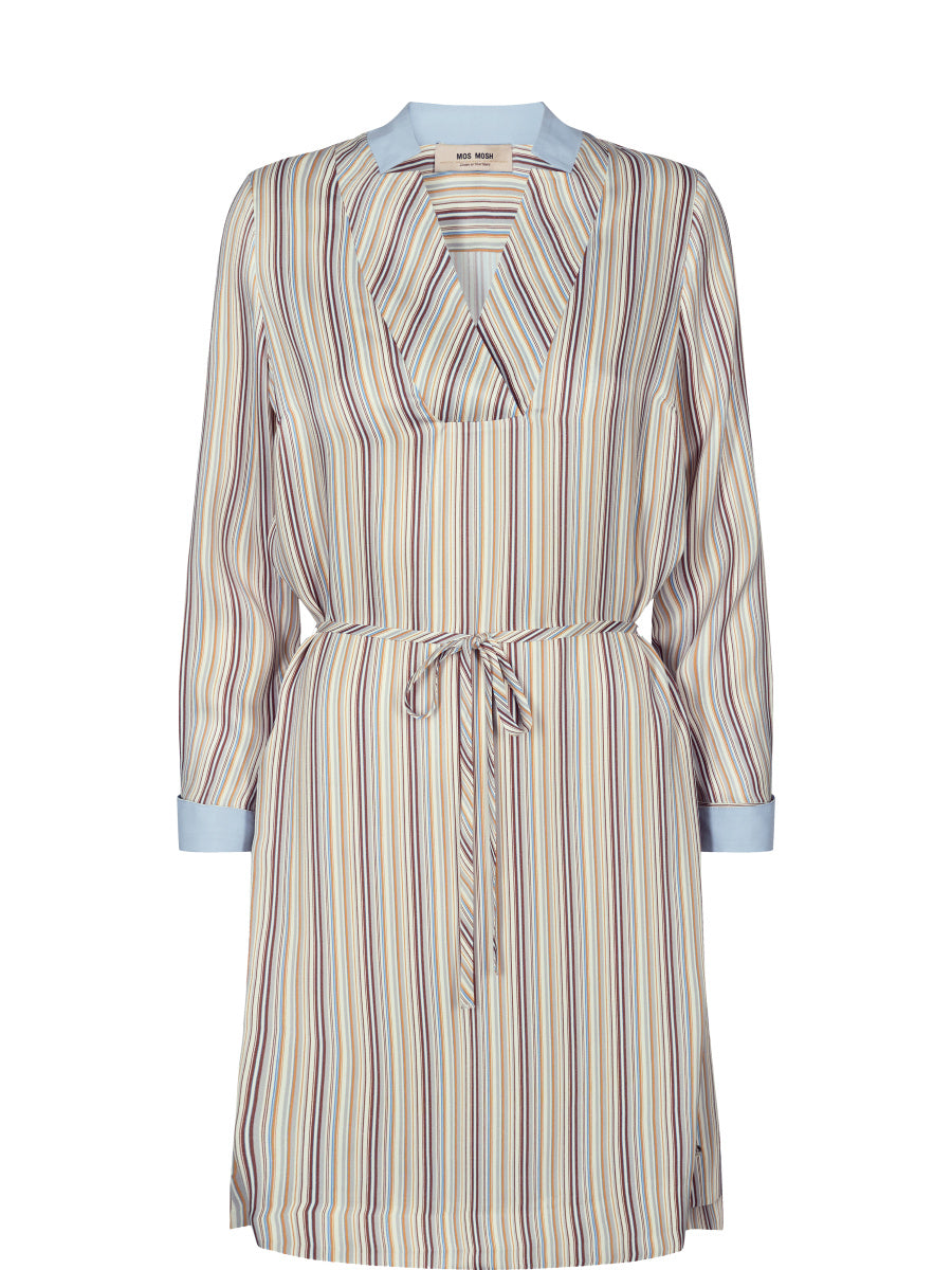 Mos Mosh Lipa Dress - Light Blue Stripe