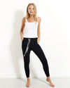Stripe & Stare Lounge Pant - Black