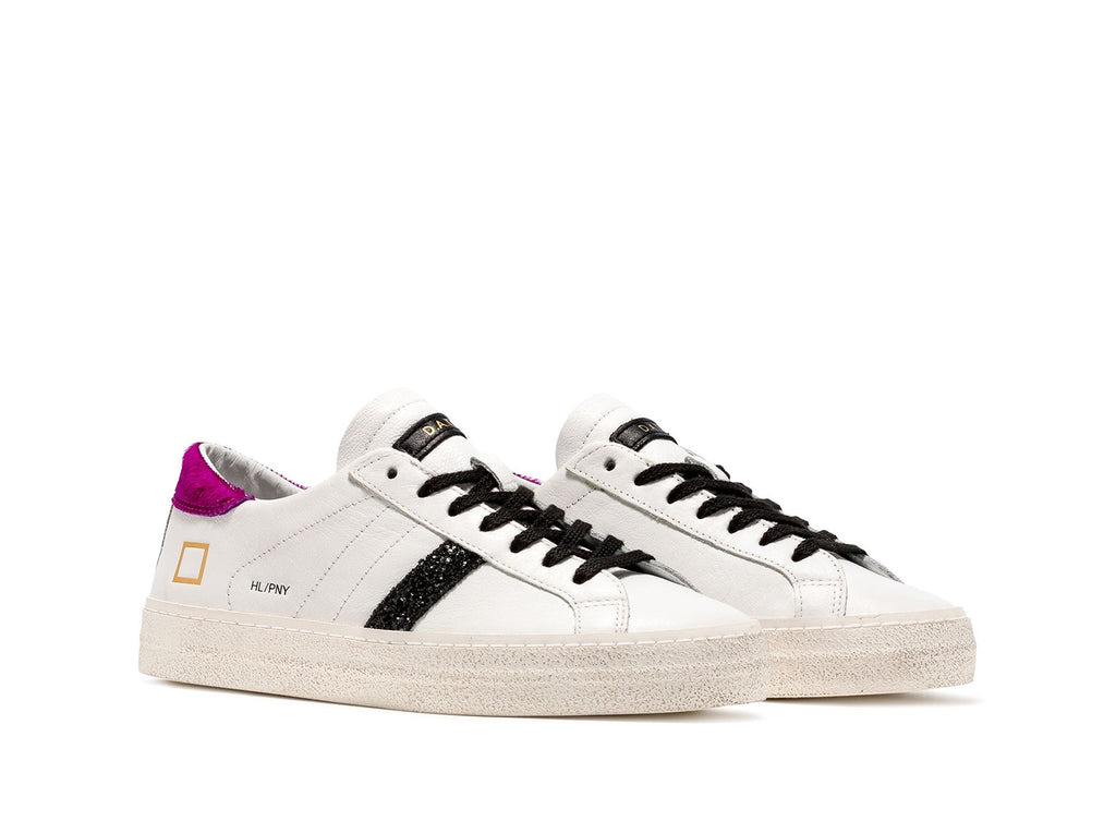 DATE Sneakers Hill Low Pony - White Fuxia