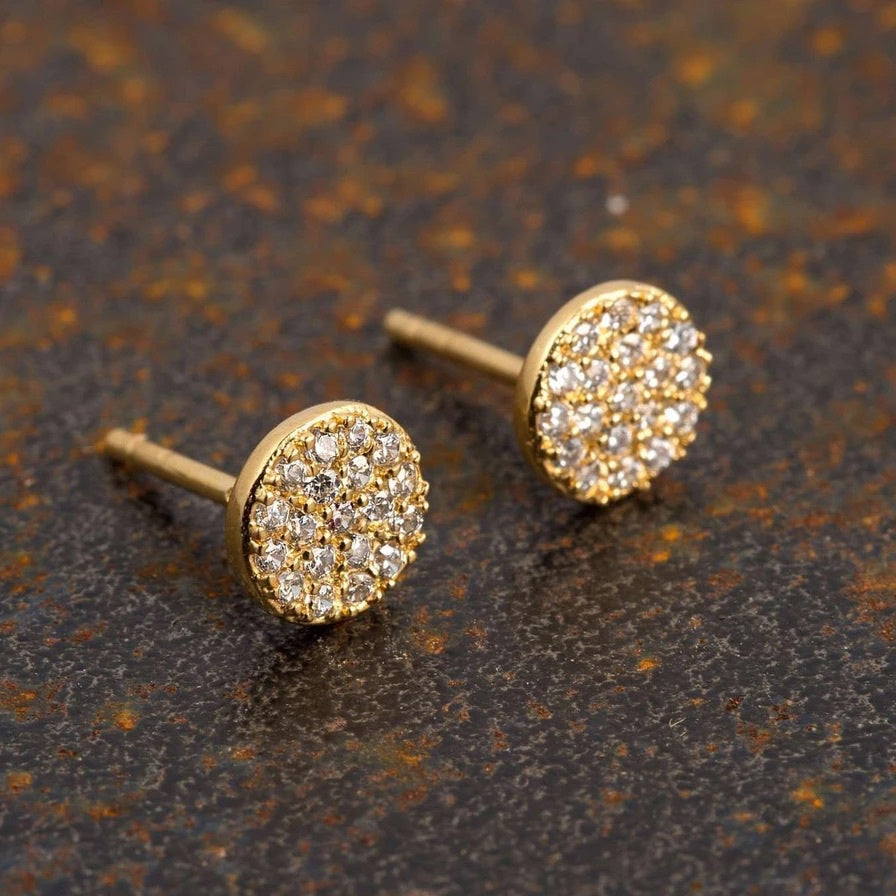 Scream Pretty PAVE Circle Stud Earings