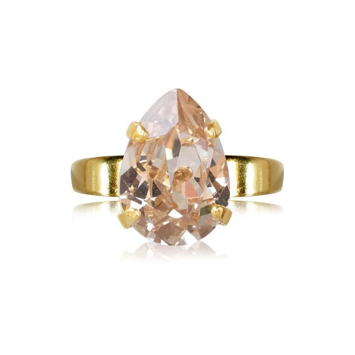 Caroline Svedbom Mini Drop Gold Ring - Silk