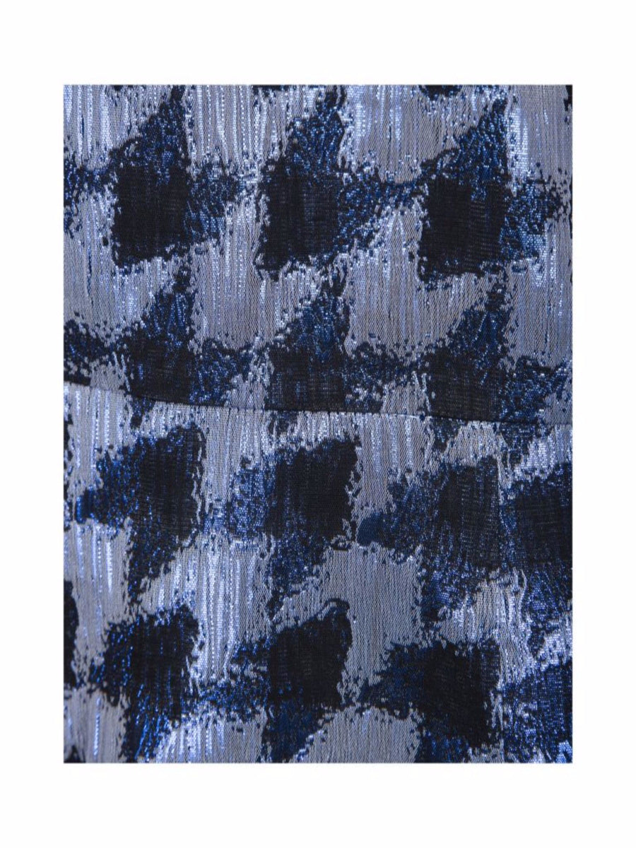 Sofie Schnoor Metallic Blue Check Dress