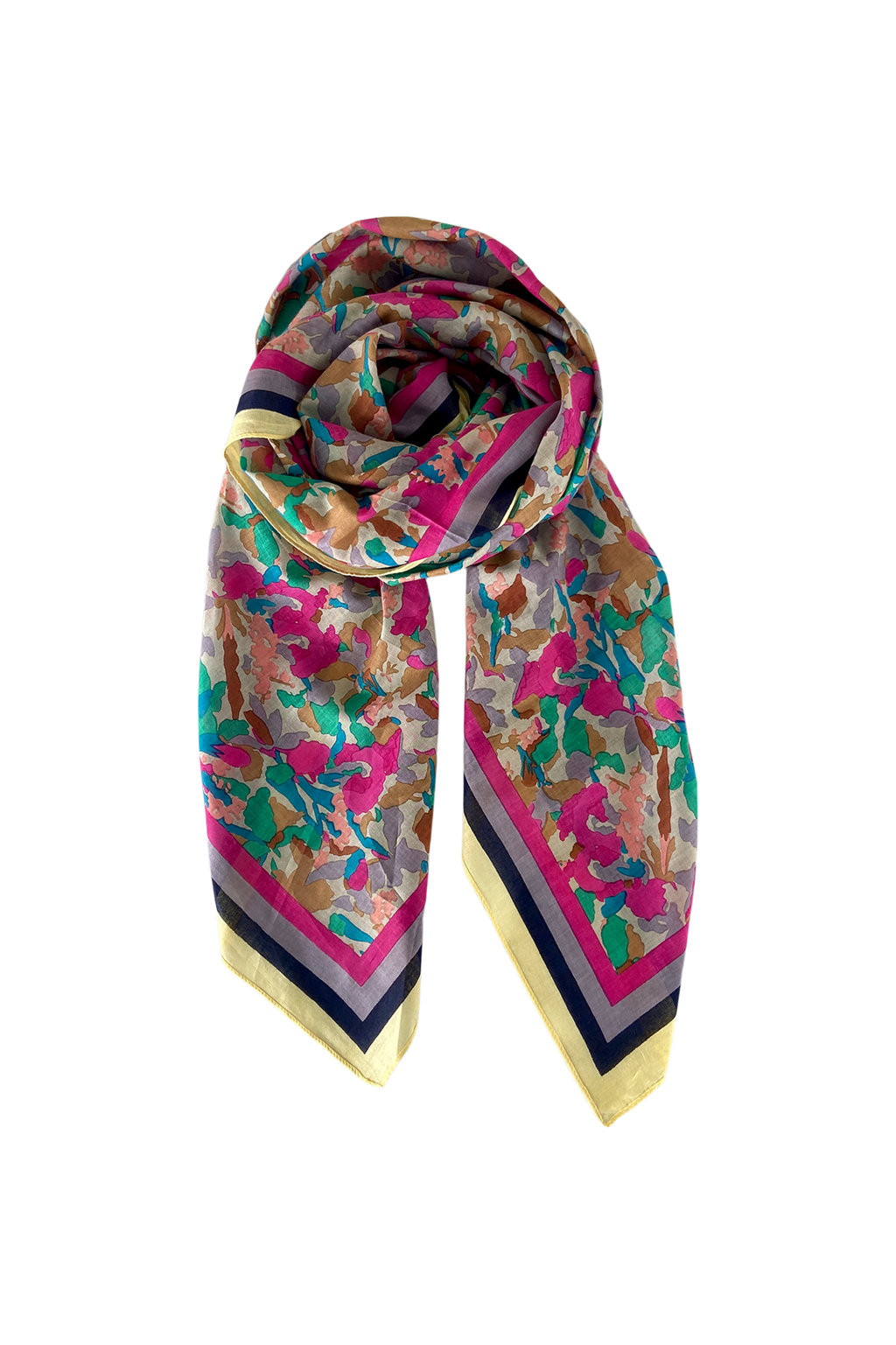 Black Colour Pink Camo Scarf