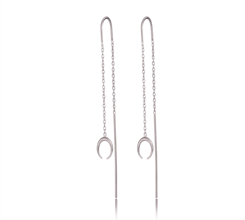 Scream Pretty Horn Threader Drop Earrings - Sterling Silver