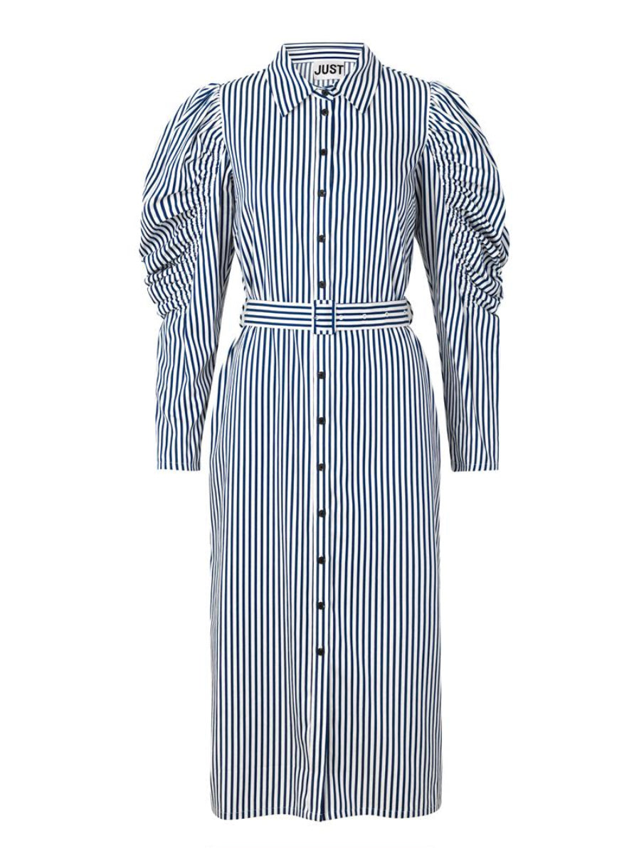 Just Female Sindra Striped Dress - Navy & White