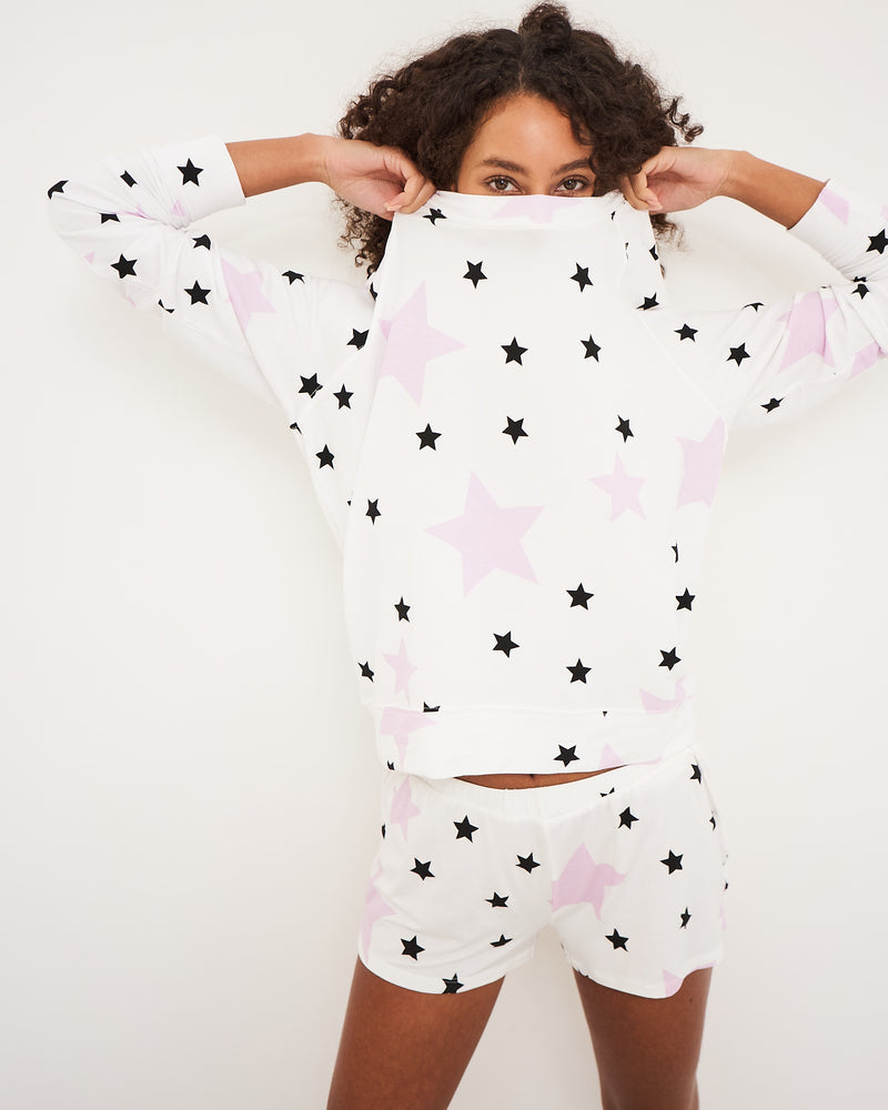 Stripe & Stare Pink Star Sweatshirt