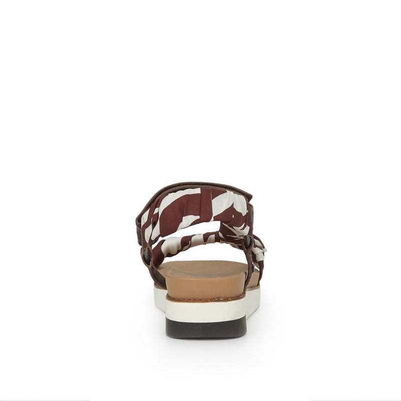 Sam Edelman Ashie Croco Leather Sandal - Brown Multi