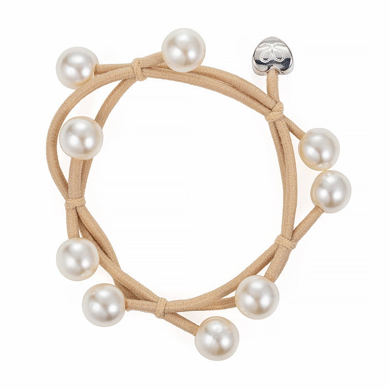 By Eloise Pearl Cluster Hair Band - Champagne