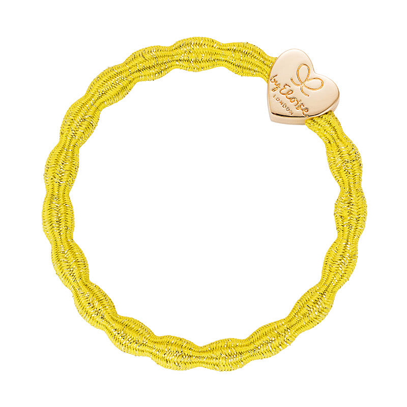 By Eloise Gold Headt Metallic Hair Band - Yellow