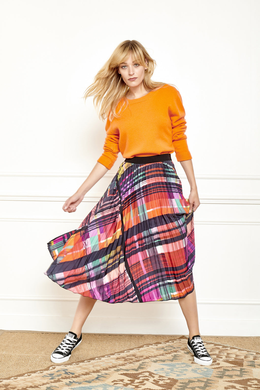 MKT Studio Jia Pleated Skirt - Multicolour