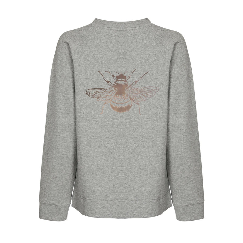Nooki London Bertie Sweatshirt - Grey with Rosegold Bee Print
