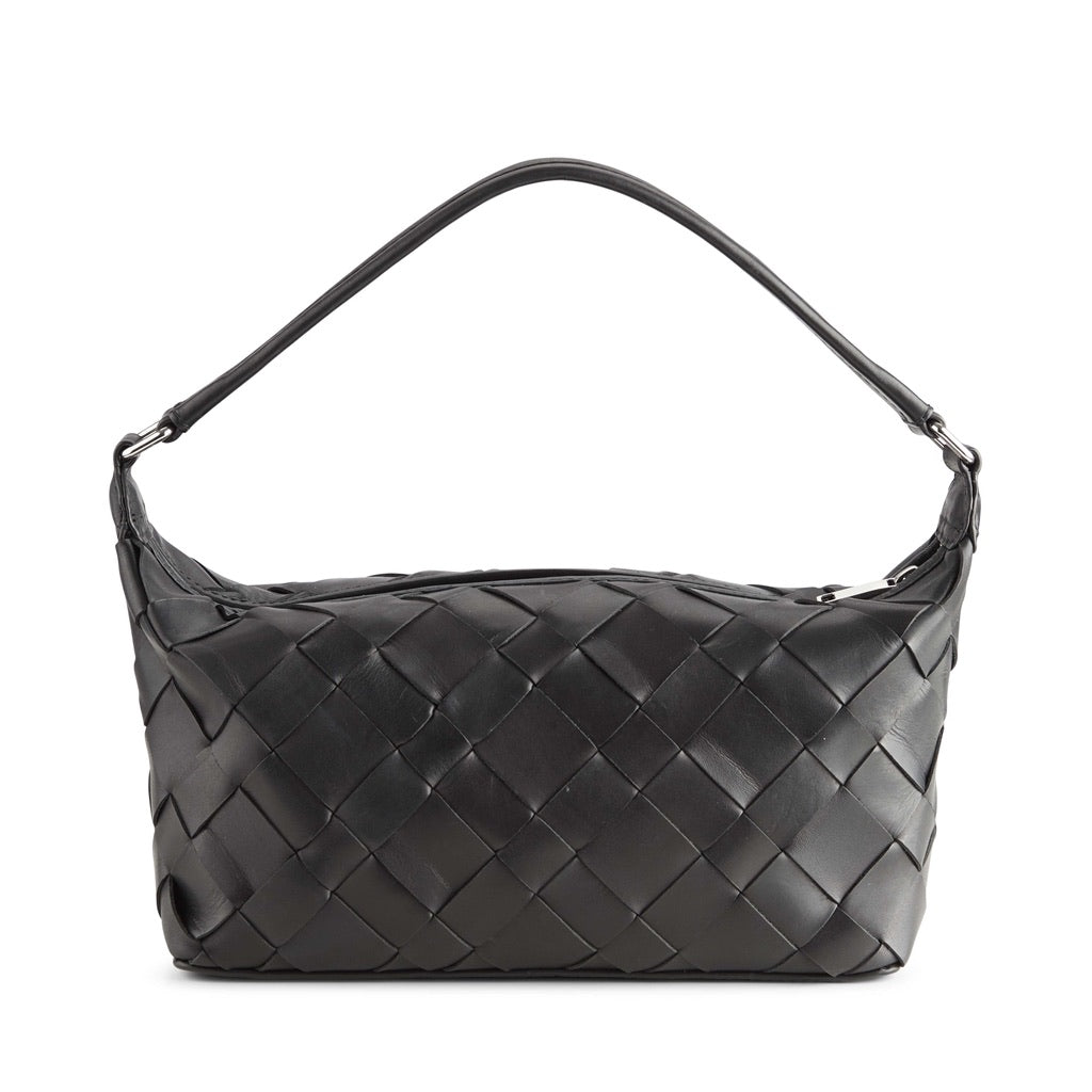 MarkBerg Lotus Woven Leather Bag - Black