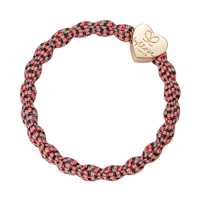 By Eloise Gold Heart Metallic Hair Band - Berries