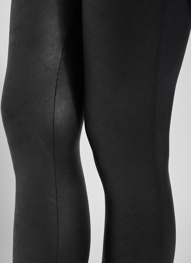 Lysse New York Foil Vegan Leather Leggings  - Black