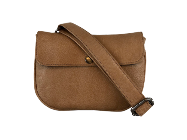 Black Colour Petra Leather Bag - Tan