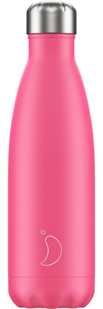 Chilly's Water Bottle 500ml - Neon Pink