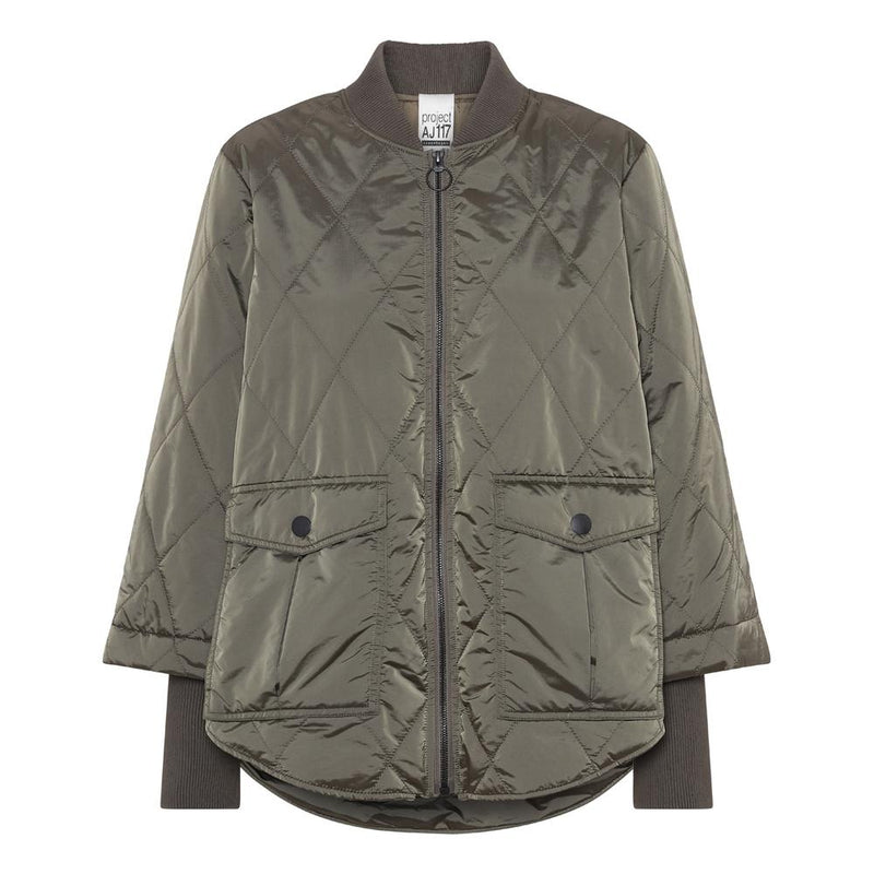 Project AJ Ninna Quilted Jacket - Army Green