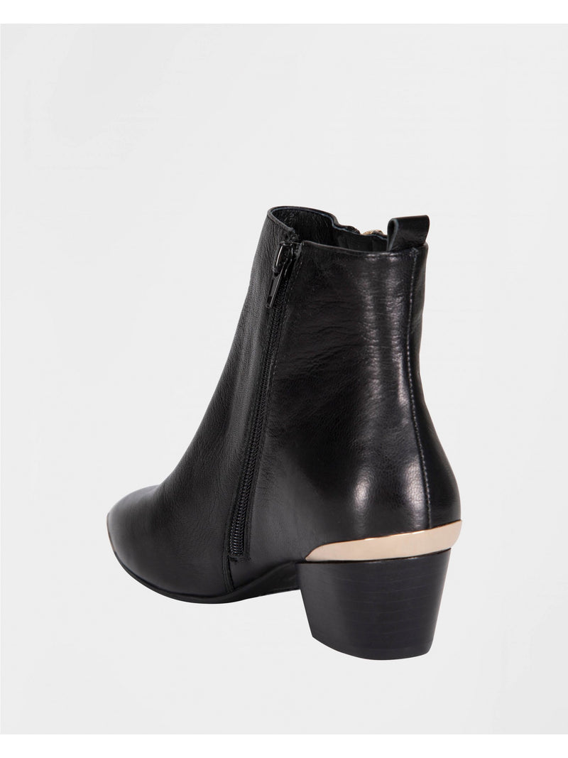 Sofie Schnoor Melina Leather Ankle Boot - Black