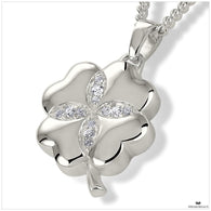 4-Leaf Clover Pendant Locket and Necklace for Ashes