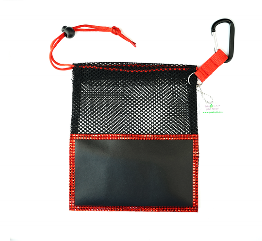 Red Large Peek A Poo - Handy Mesh Carry All, for Dog walkers