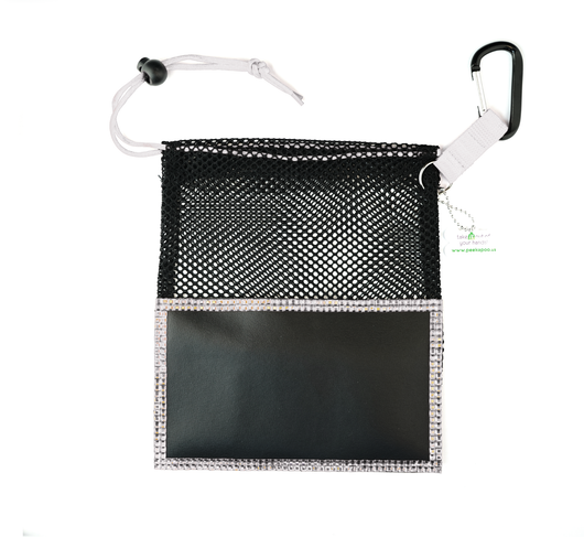 Silver Large Peek A Poo - Handy Mesh Carry All, for Dog walkers