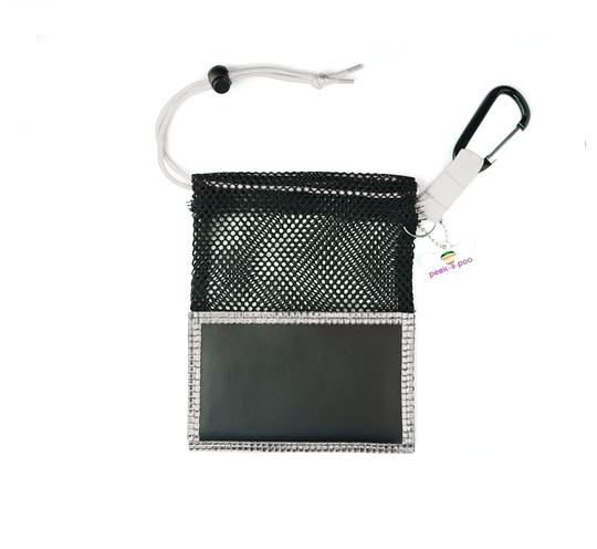 Silver Small Peek A Poo - Handy Mesh Carry All, for Dog walkers