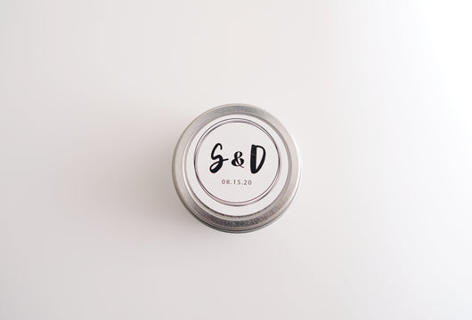 Initials Soy Candle - Wedding Favors
