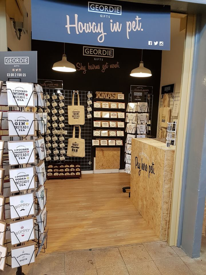 geordie gifts shop grainger market newcastle upon tyne, cards, mugs