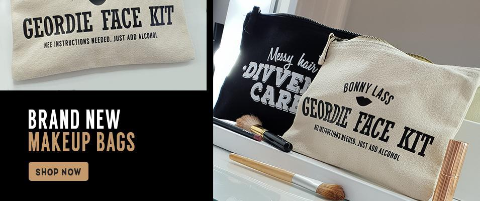 geordie makeup bags messy hair divvent care geordie gifts newcastle gift shop in the grainger market