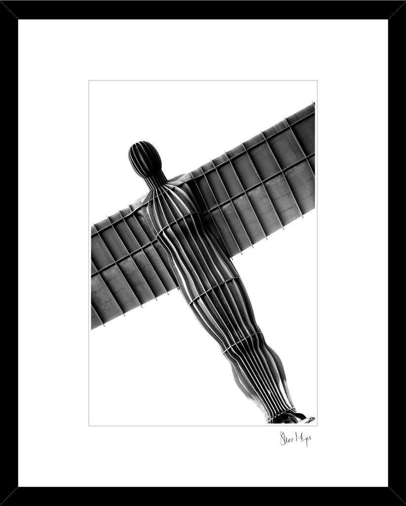 angel of the north black and white abstract framed print north east photography steve mayes