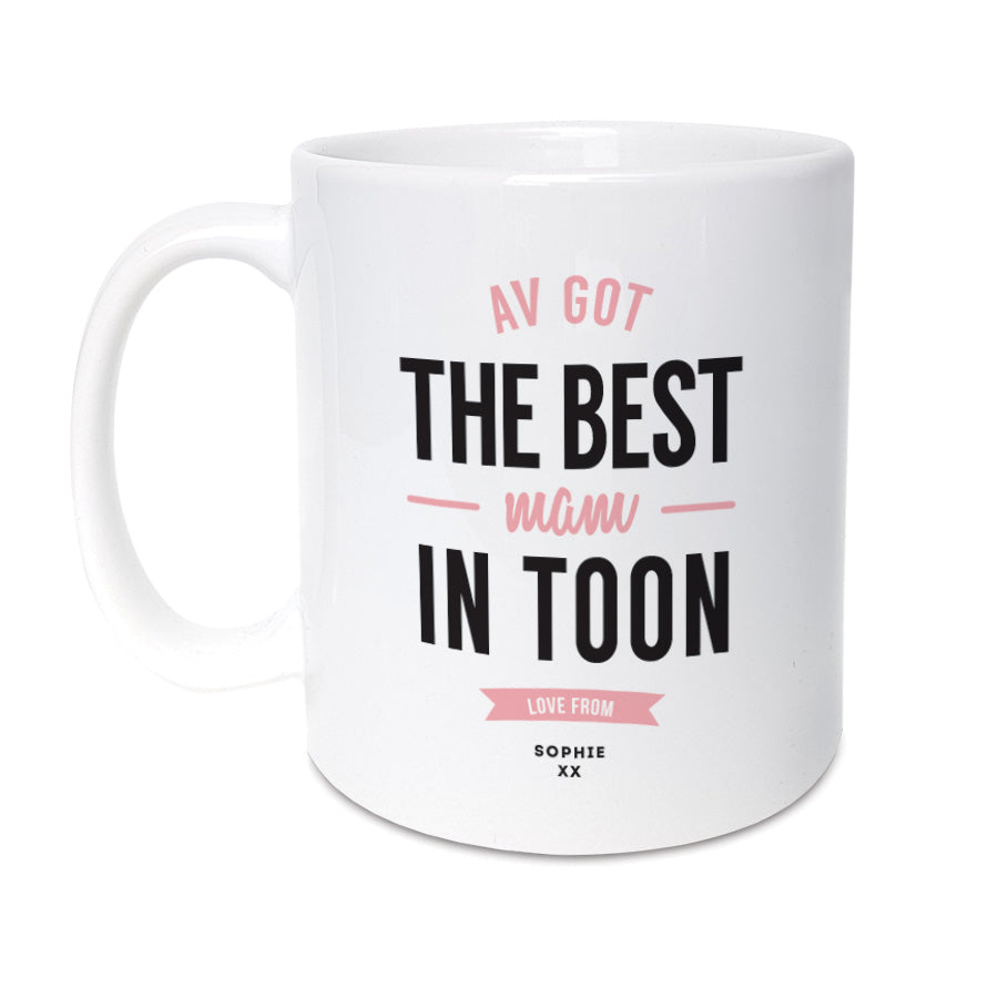 best mam in toon personalised geordie gifts mothers day mug newcastle present
