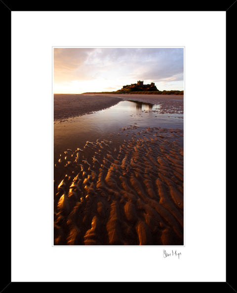 bamburgh castle bamburgh beach framed print northumberland photography steve mayes