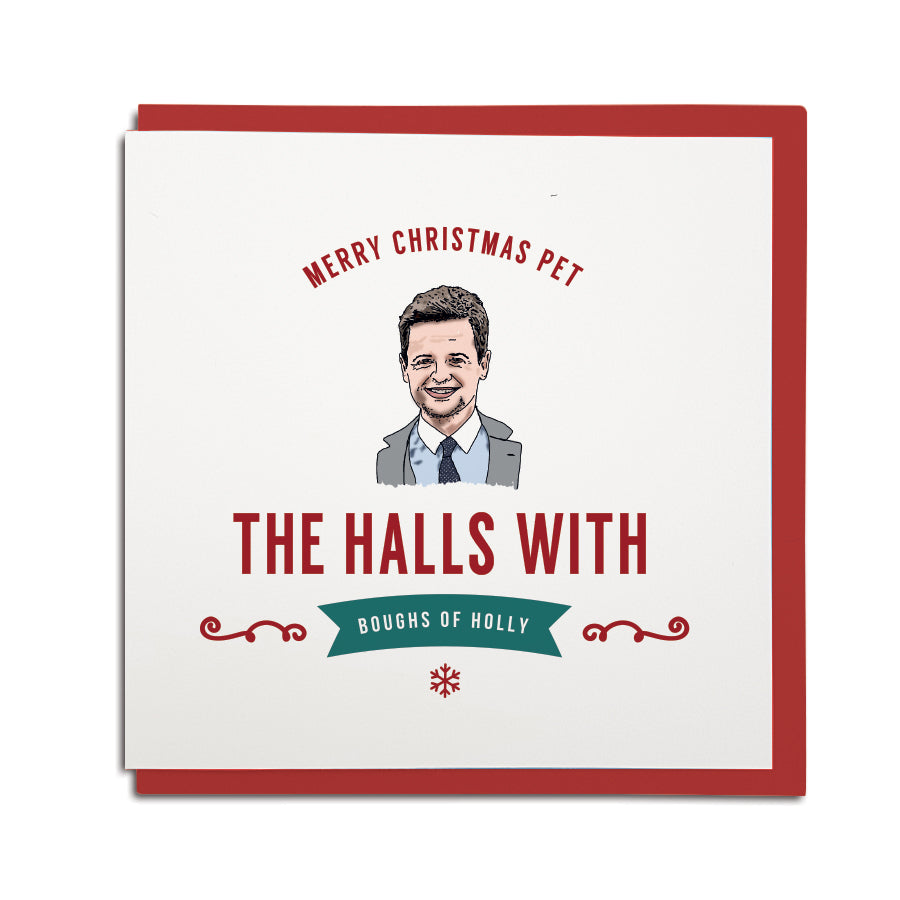 and and dec the halls with boughs of holly funny geordie christmas card grainger market gift shop in newcastle