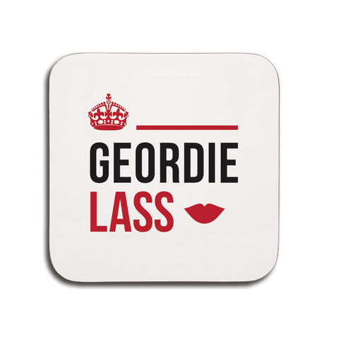 Geordie lass coaster, small gifts for geordies, Present from someone from Newcastle