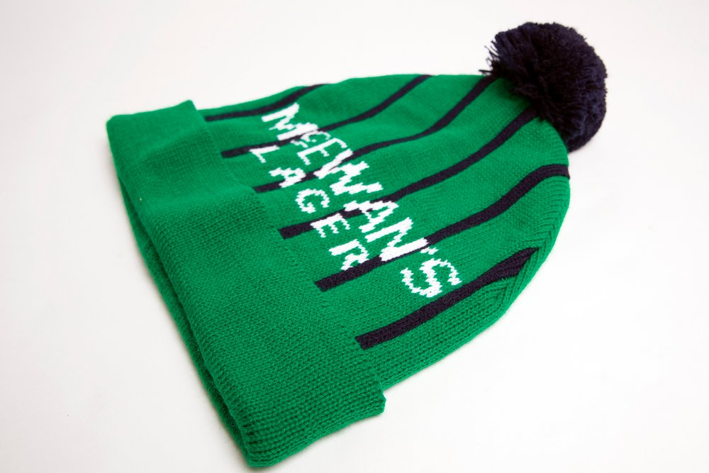 green stripy 1994 andy cole newcastle united away strip. Toon fan nufc wooly bobble hats newcastle hats