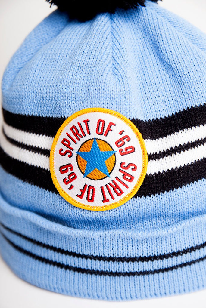 newcastle united hats for toon fans. Spirit of 69 blue away kit worn by shearer and ferdinand. Geordie Gifts Wooly bobble hats