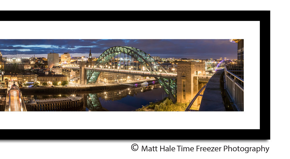 panoramic newcastle quayside zoom framed print